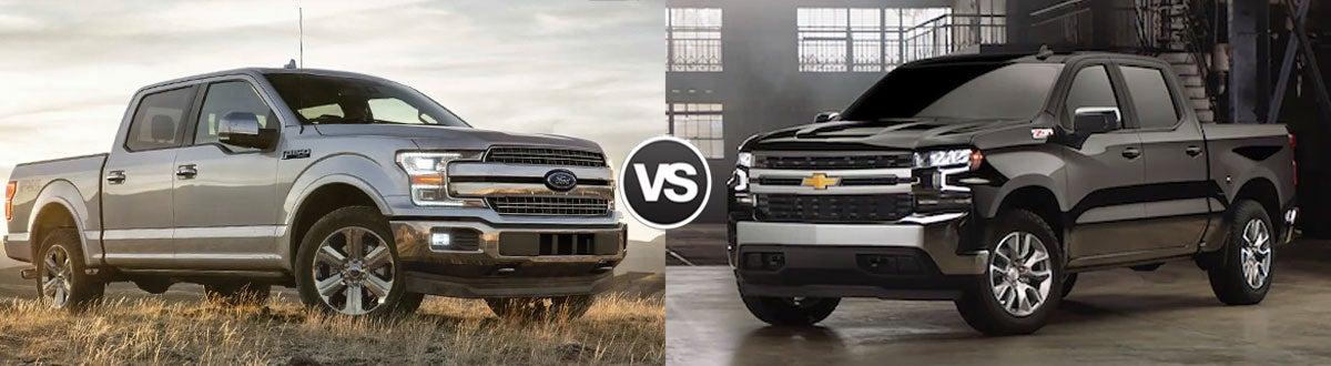 F150 Vs Silverado >> Compare 2019 Ford F 150 Vs 2019 Chevrolet Silverado 1500